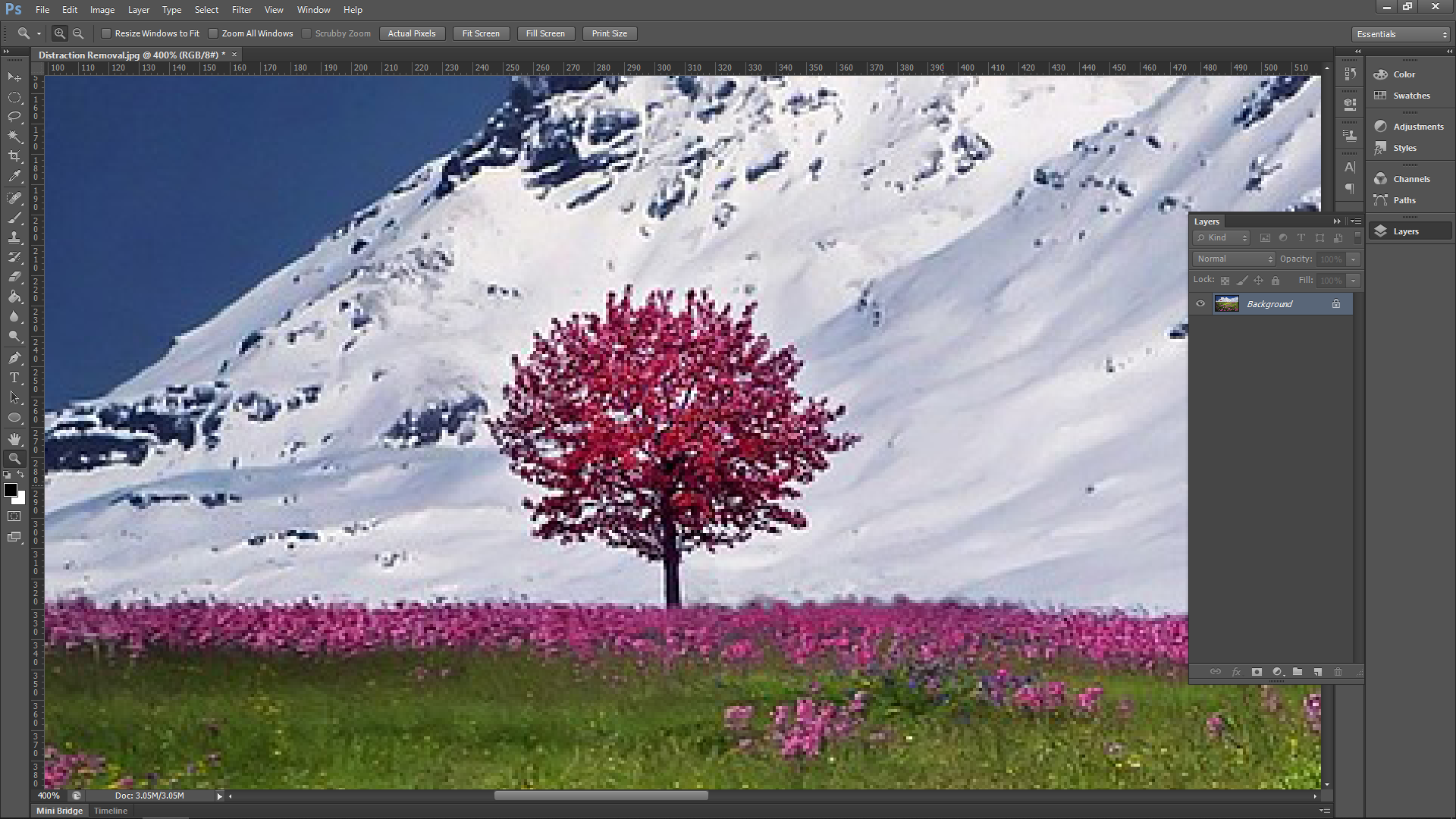 Photoshop Tutorial Removing Distractions