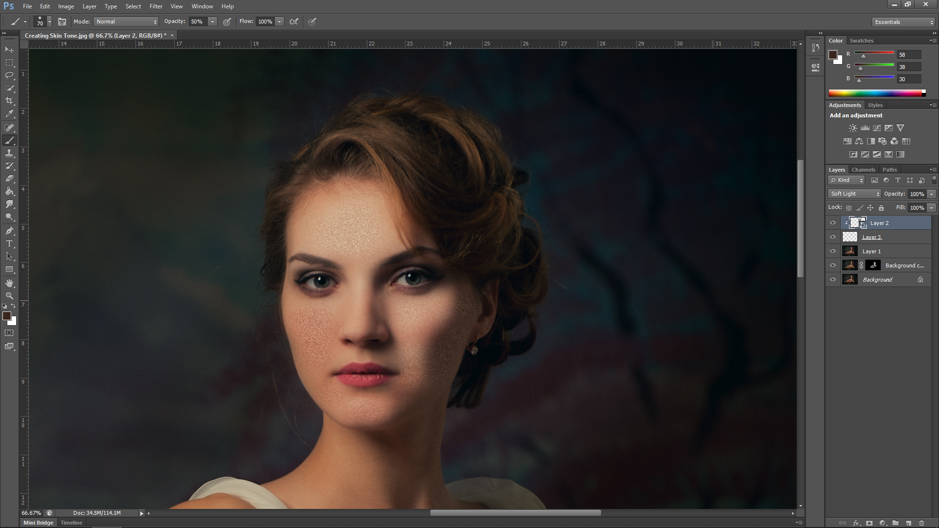 Create Skin Texture in Photoshop