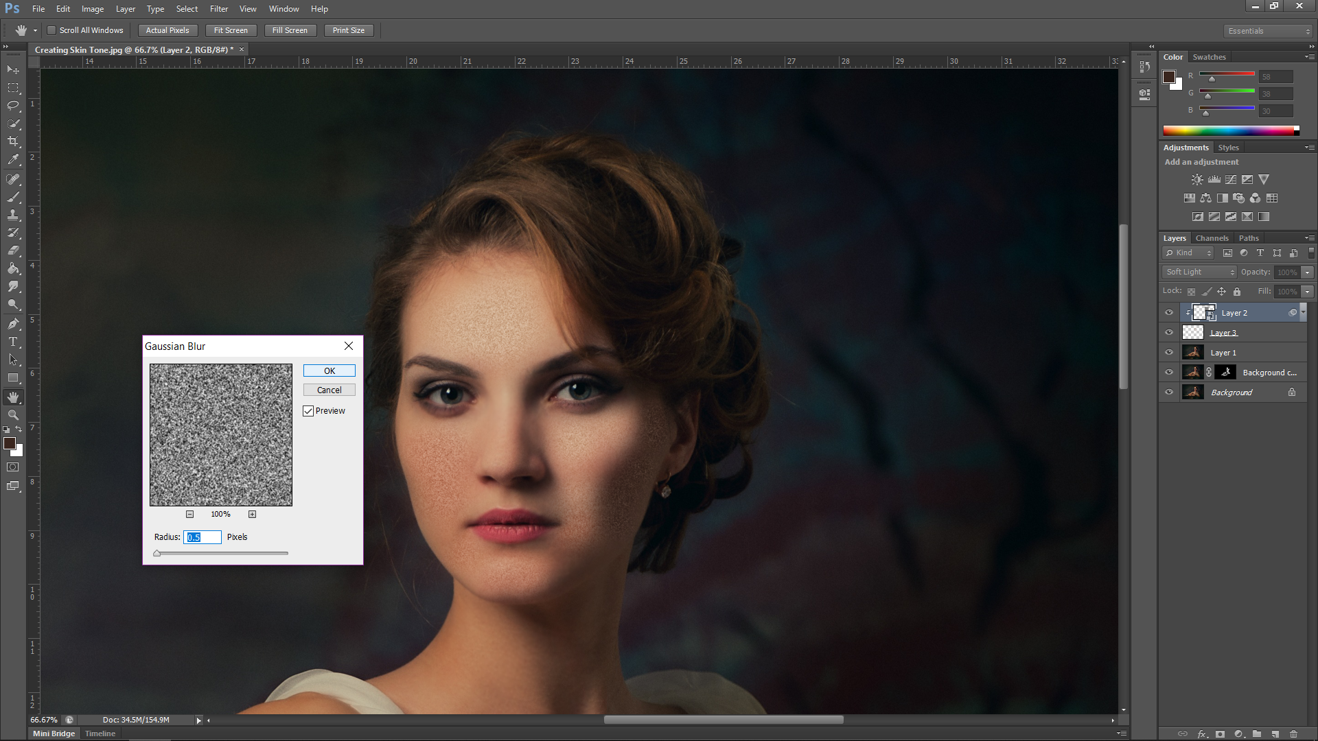 Creating Skin Texture In Photoshop