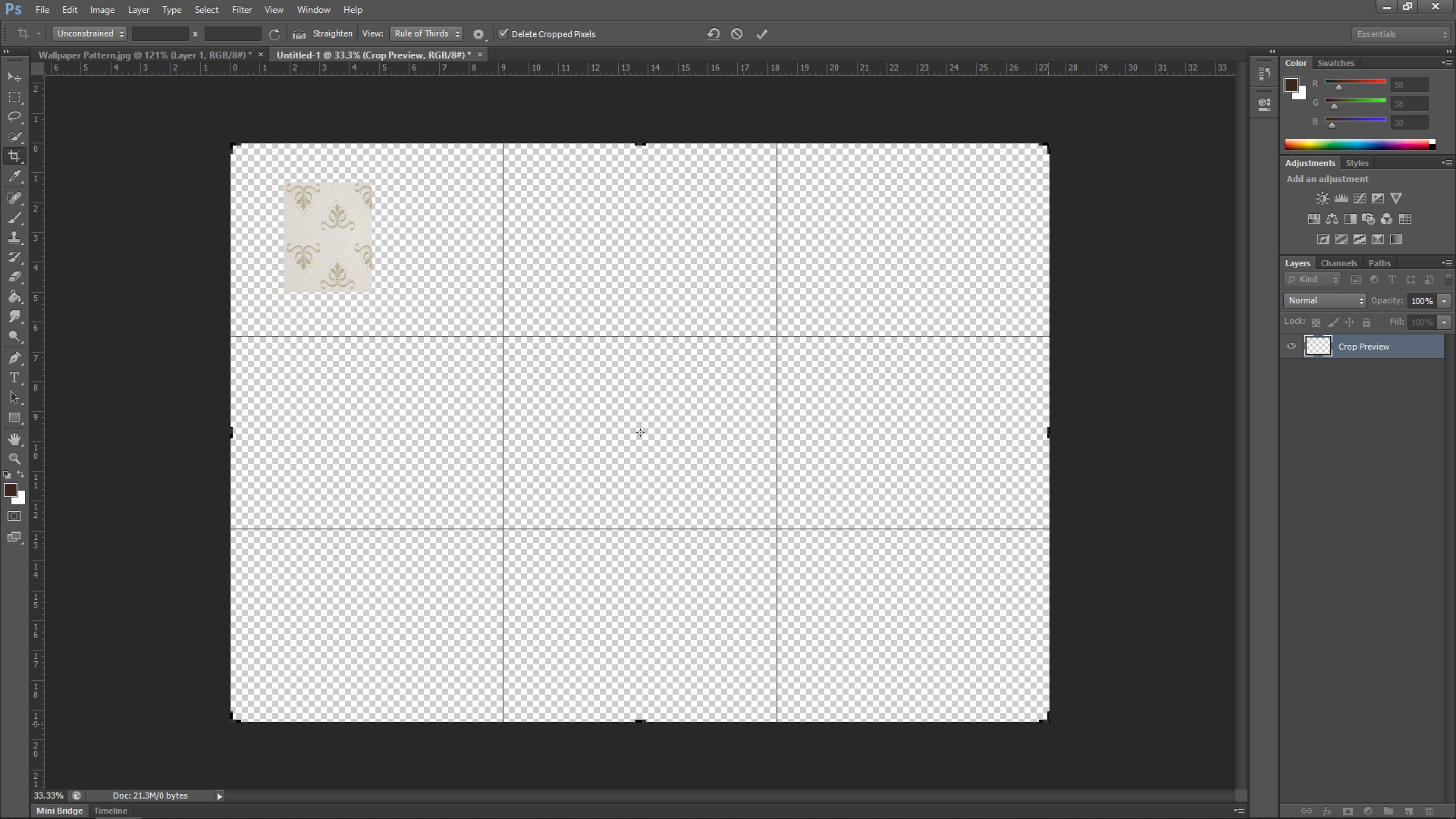 Adding Wallpaper in Photoshop