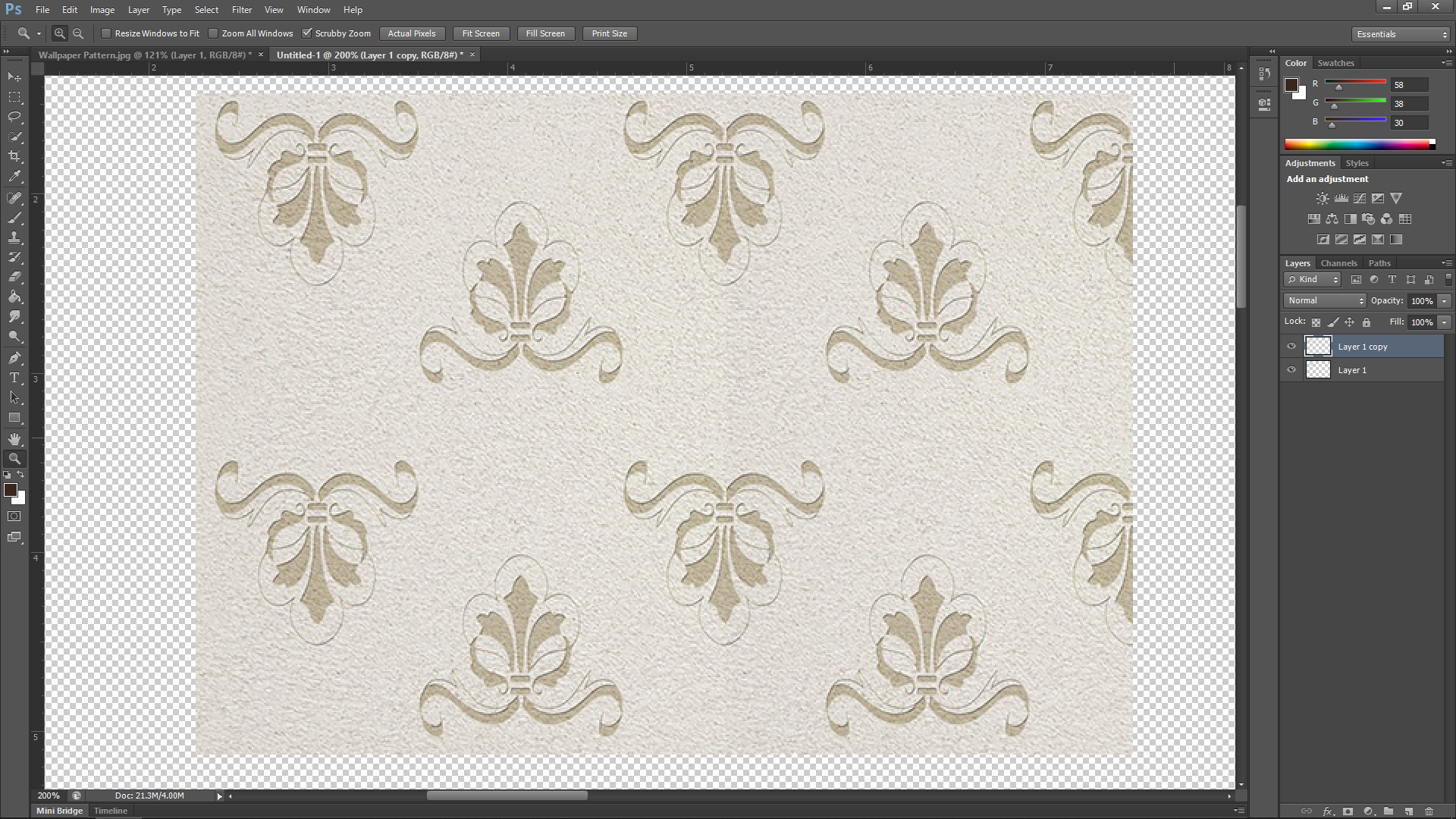 Adding Wallpaper in Photos