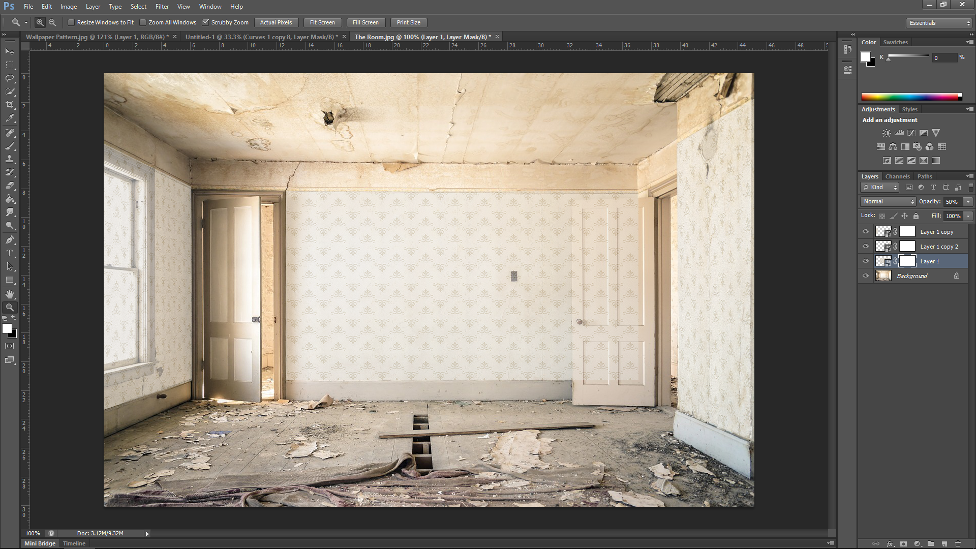 Wallpapering in Photoshop