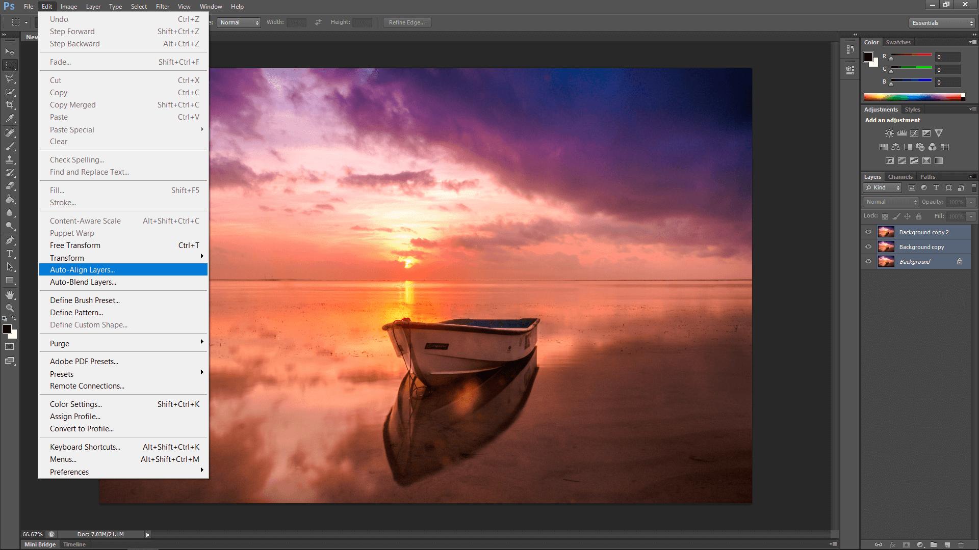 Photoshop Auto Align