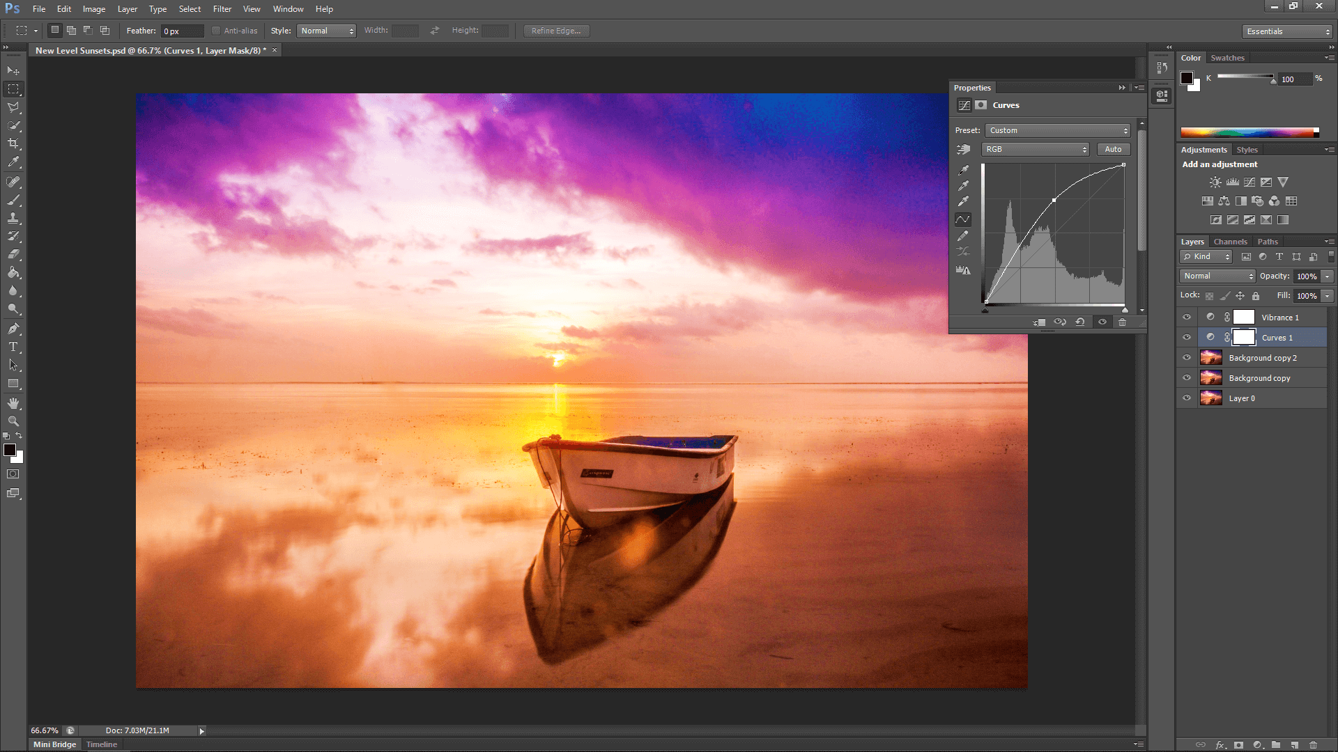 Sunset in Photoshop