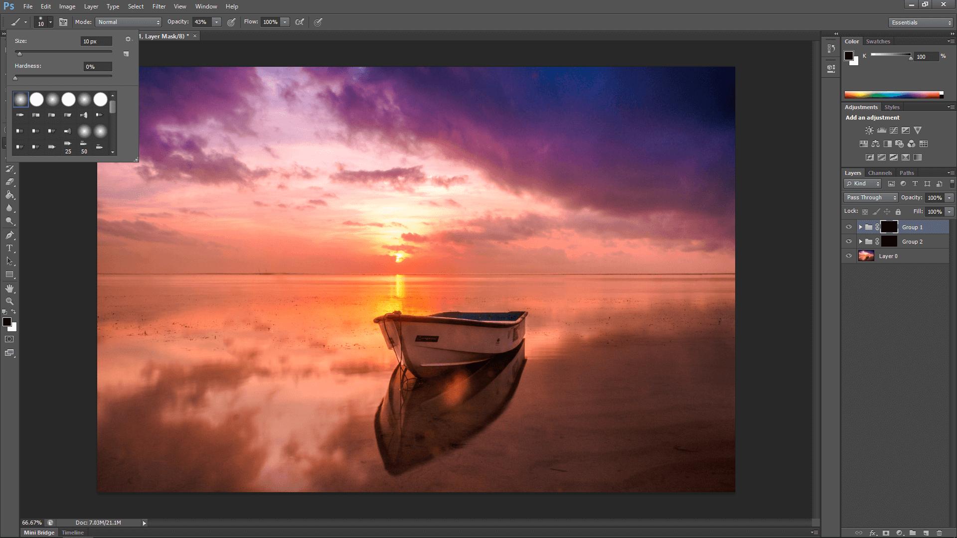 Photoshop sunset fun
