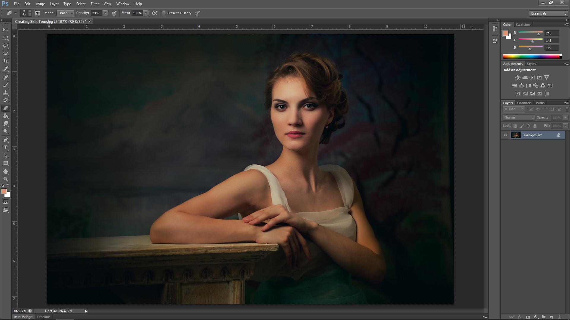 Skin Texture Photoshop