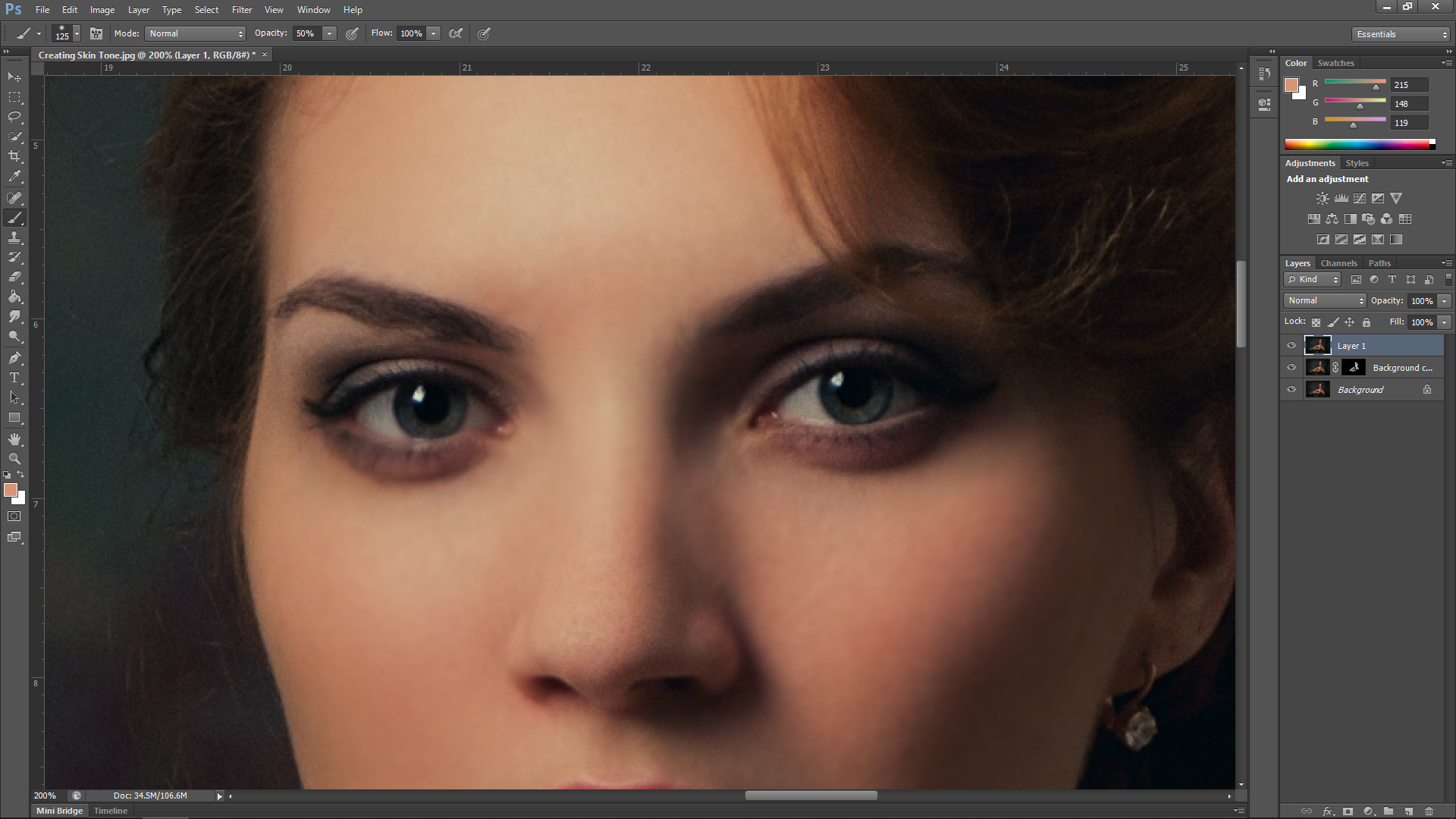 Creating Flesh Texture Photoshop