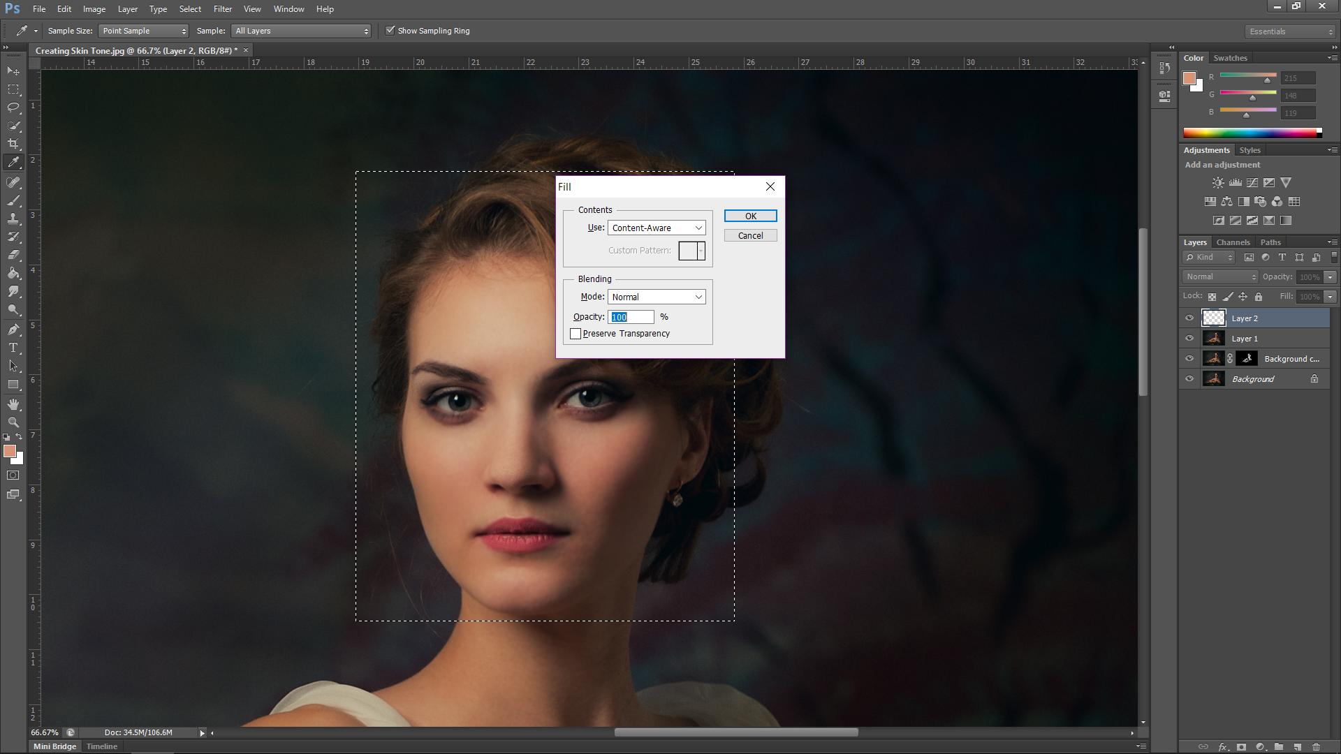Create Skin Texture Photoshop
