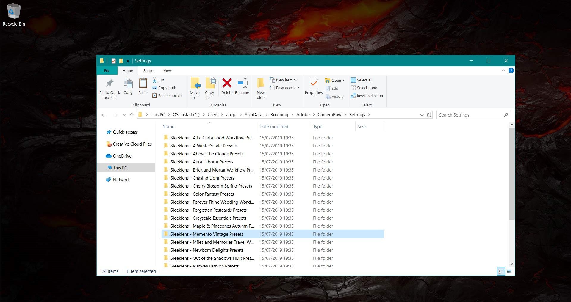 install xmp presets