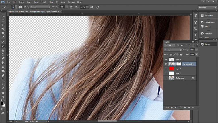 My Solution To Cropping Long Hair In Adobe Photoshop