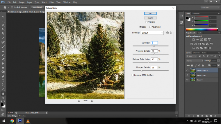 Digital Noise Removal Process in Adobe Photoshop for Beginners