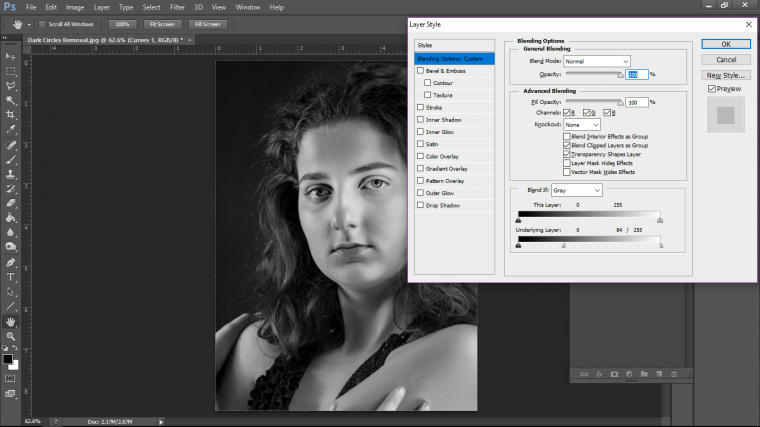 170ac0bdbbc How to Remove Dark Circles Under Eyes in Adobe Photoshop