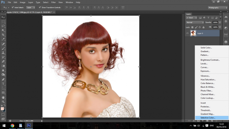 how to change colour hair in photoshop
