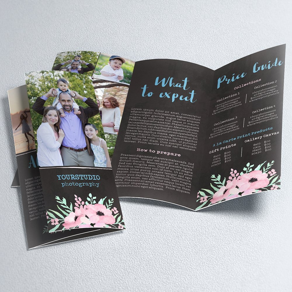 Trifold Brochure Template | Flower Garden