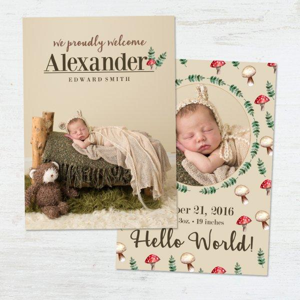 Birth Announcement Templates | Handmade by our Team