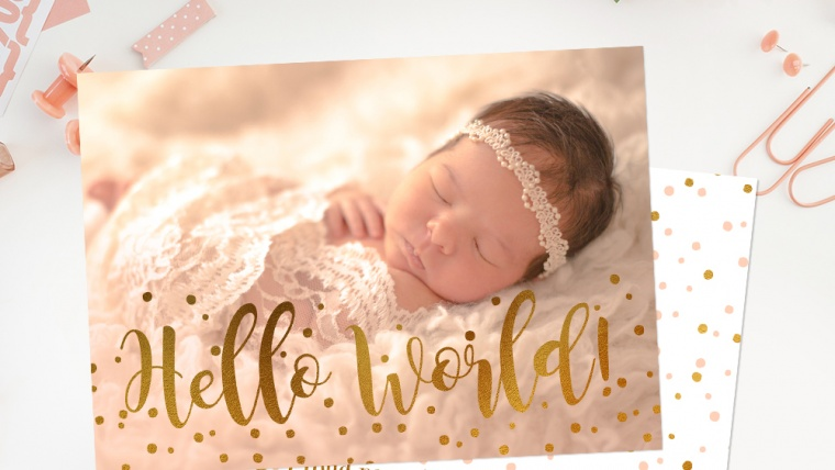 How to Work with Birth Announcement Templates – Birth Announcement Photoshop Template