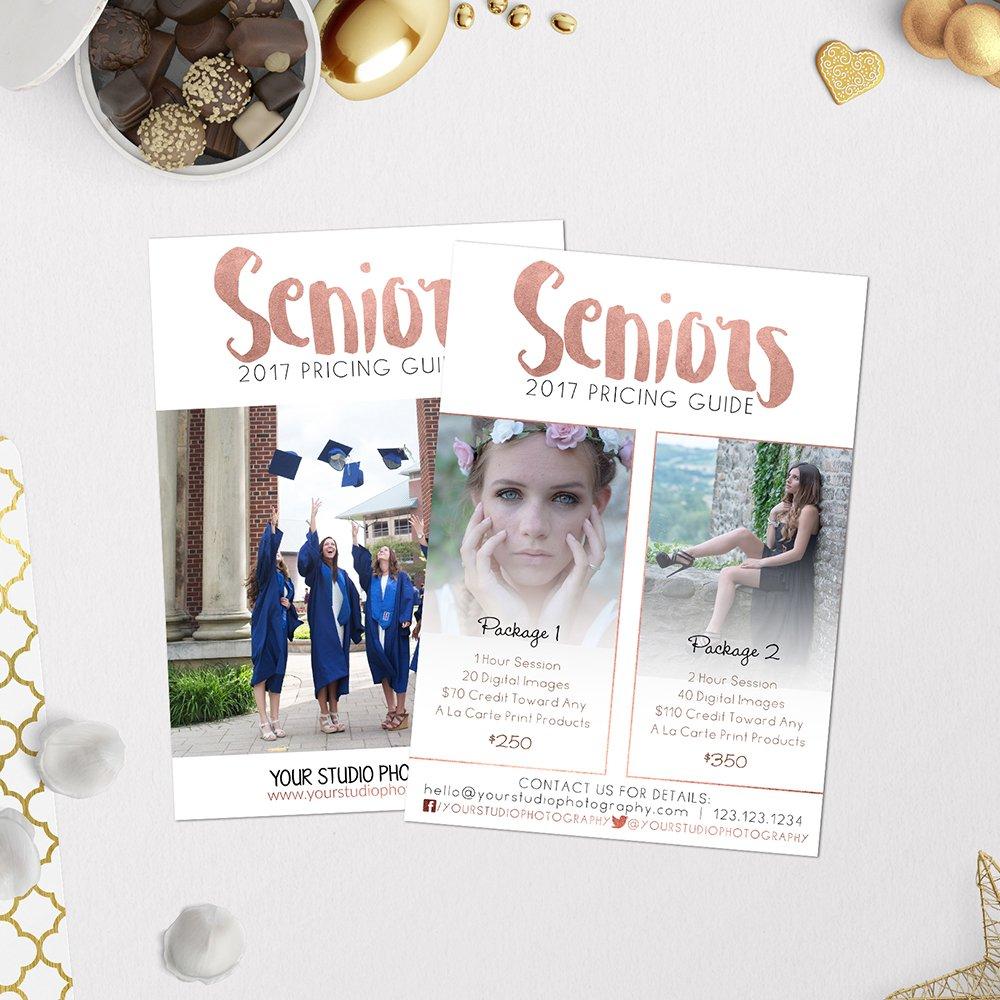 Price List Template | Seniors