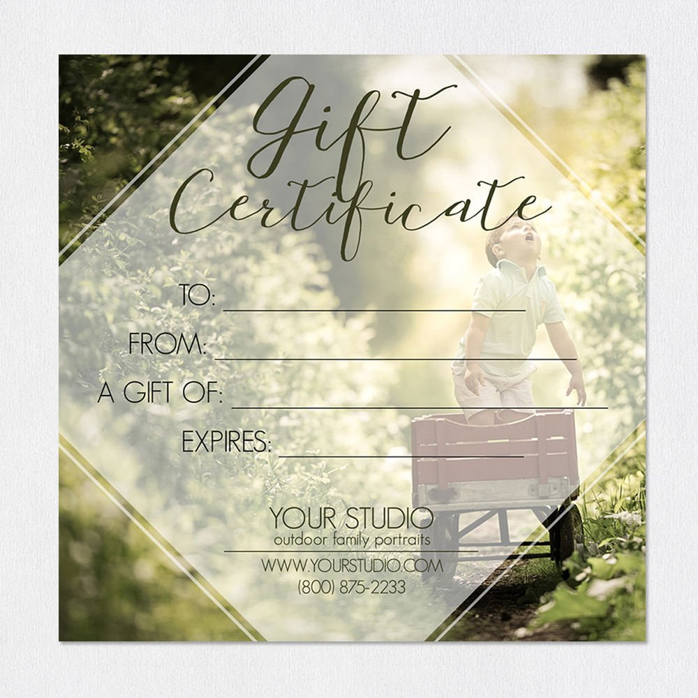 For A Lifetime Gift Certificate Template For Photoshop