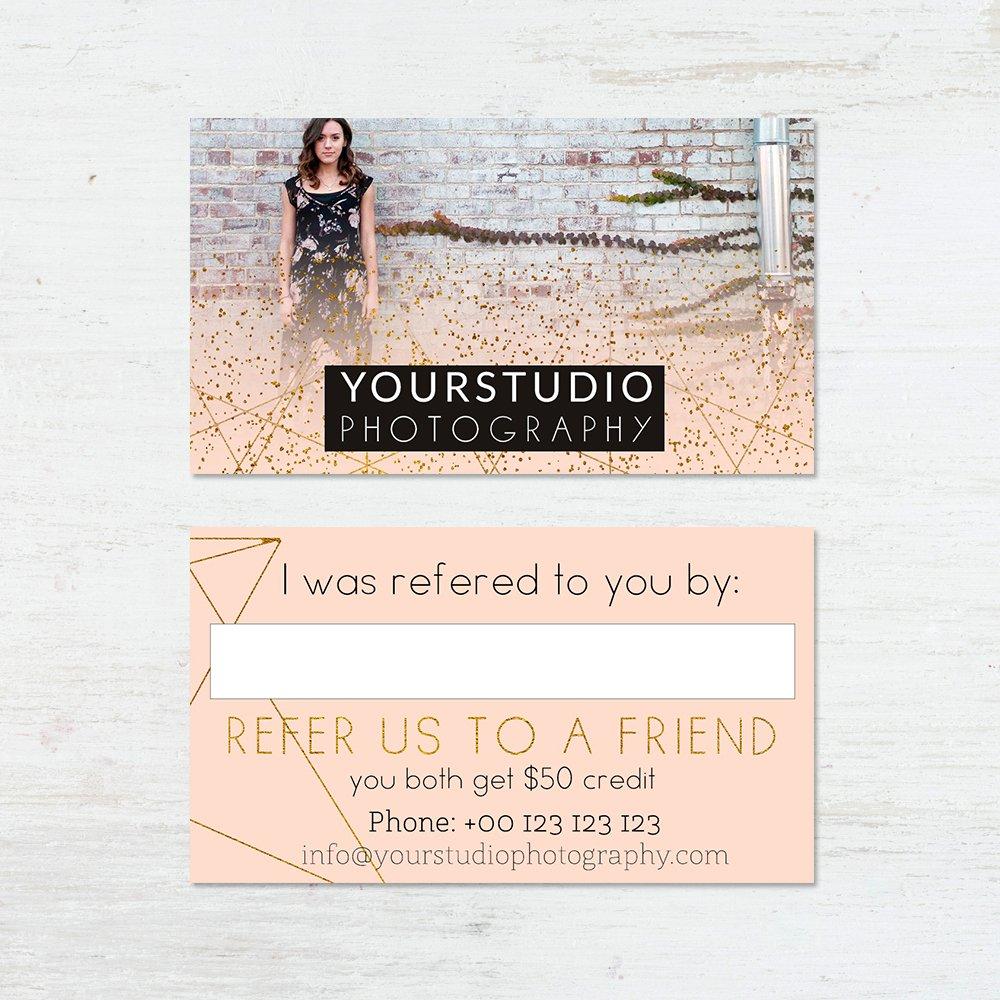Referral Card Template   Pastel Greetings