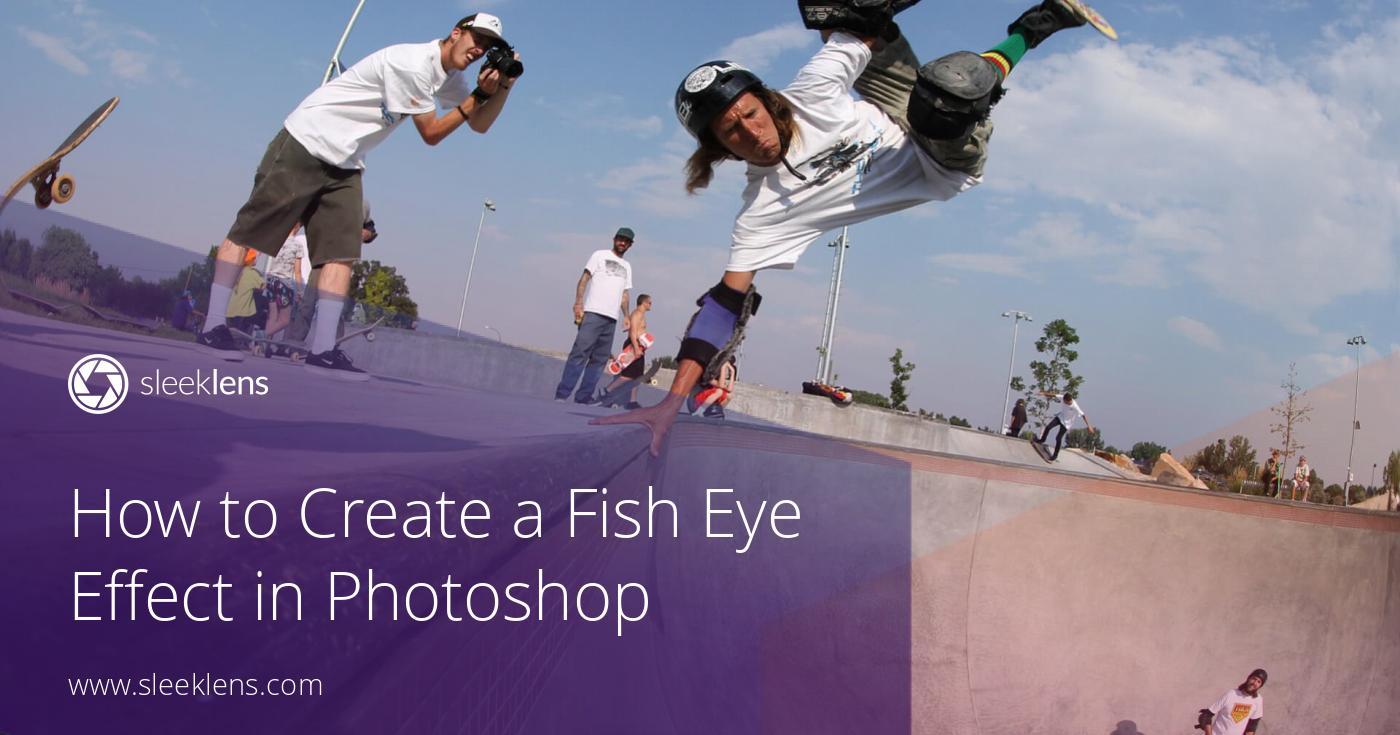 fish eye effect photoshop
