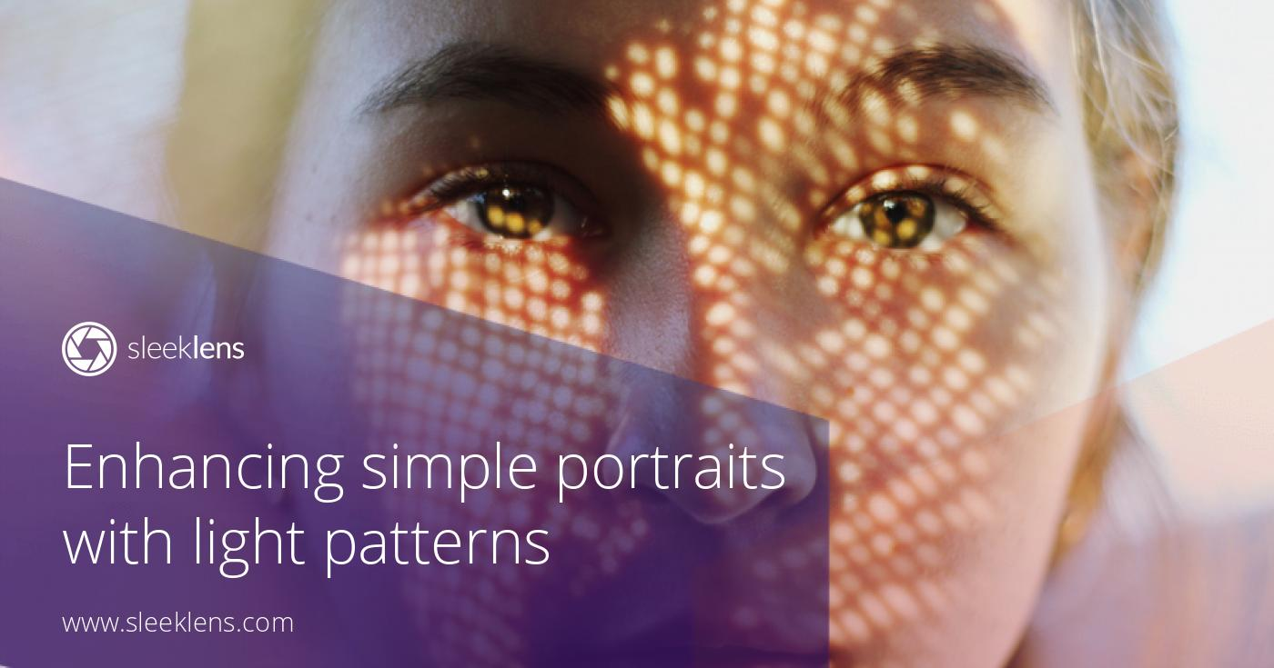 Enhancing simple portraits with light patterns