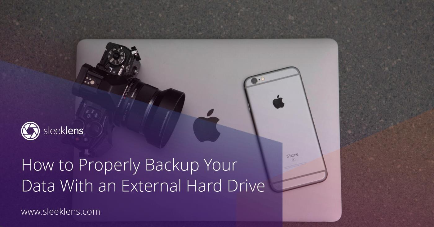 how to backup your data to an external hard drive