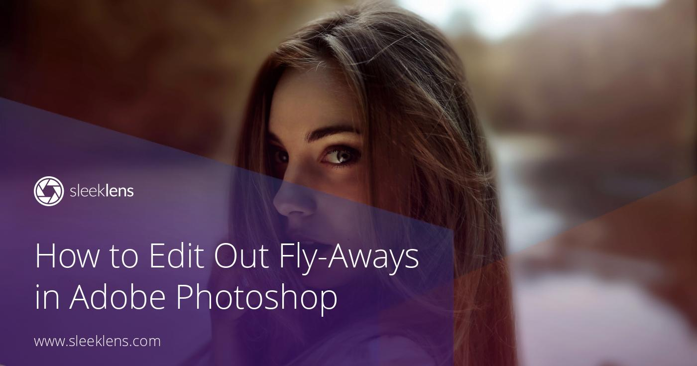 How to Edit Out Fly Away Hairs in Adobe Photoshop - Video Tutorial